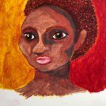 Portrait of a Woman in Oil Pastels